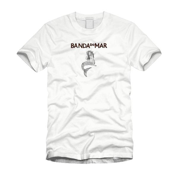Camiseta Banda do Mar, Sereia - Branca