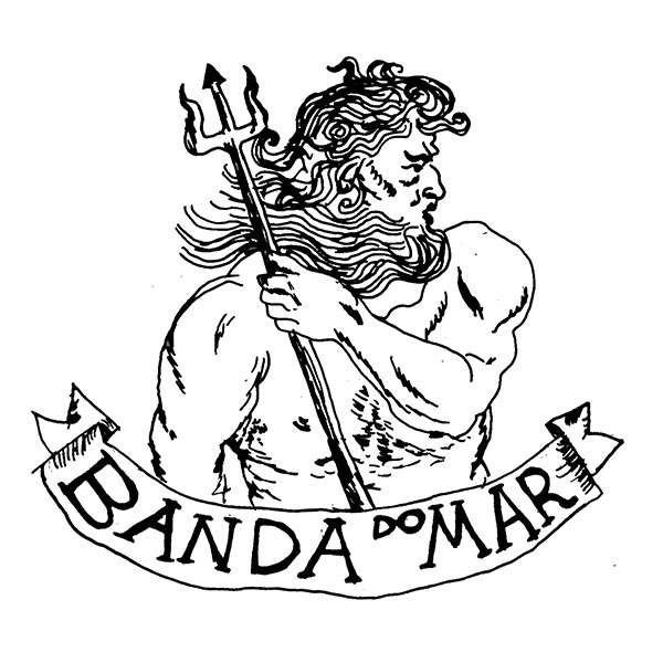 Adesivo Banda do Mar, Poseidon - Branco
