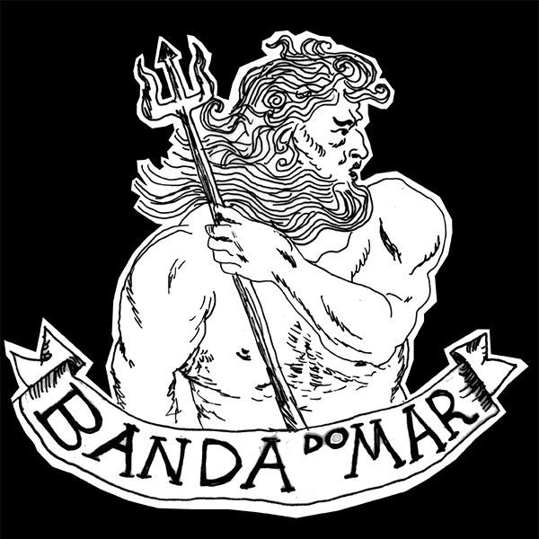 Adesivo Banda do Mar, Poseidon - Preto